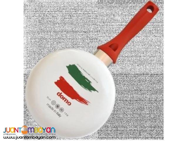 Domo Non-Stick Ceramic Sauce Pan 16cm (White)