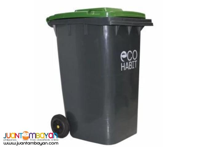 Eco Habit Waste Bin Plastic with Wheels 240L (Green)
