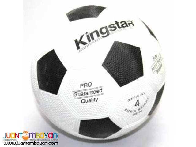 KINGSTAR Soccer Ball Rubber Size 4 (White)