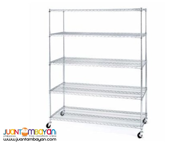 Chrome Wire Shelving 5 Tier(Silver)