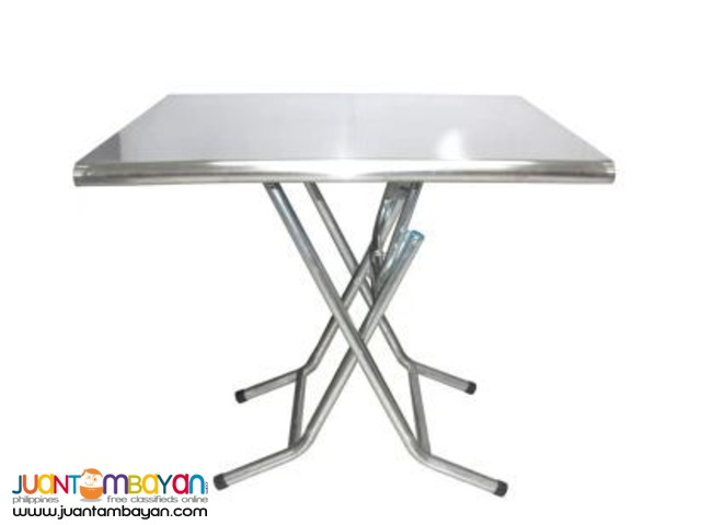 Stainless Steel Folding Table (Silver)