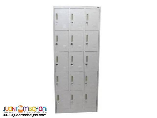 SCHAFFEN 15 Door Steel Cabinet (Off White Gray)