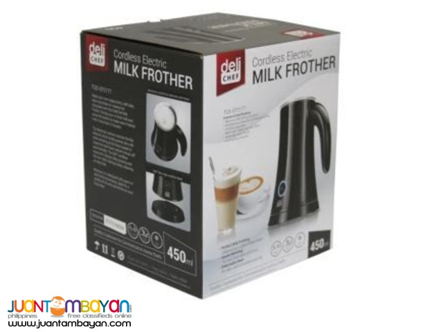 Deli Chef Cordless Electric Milk Frother 450mL