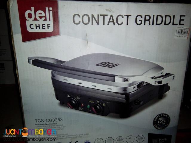 Deli Chef Contact griddle (Silver/Black)
