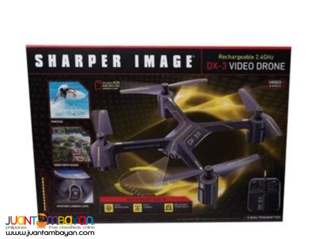 Sharper Image DX-3 Rechargeable Remote-Control Video Drone