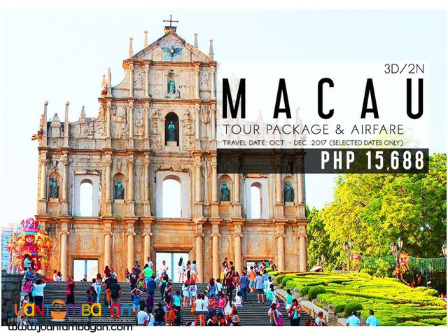 3d2n Macau Free and Easy Tour Package + Airfare
