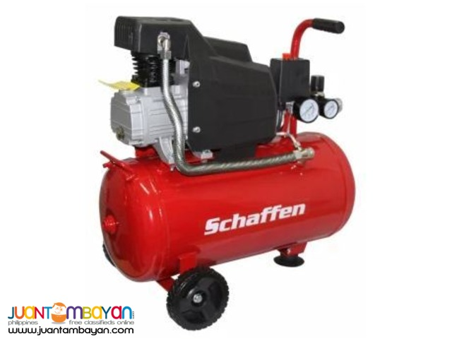Schaffen Electric Air Compressor EZ-1525A 24L(Black/Red)