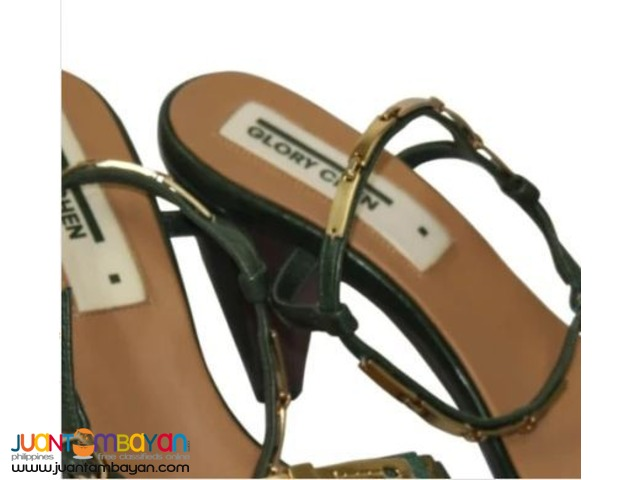 GLORY CHEN Heeled Sandals Twinkle-S US Size 8(Evergreen Nappa)