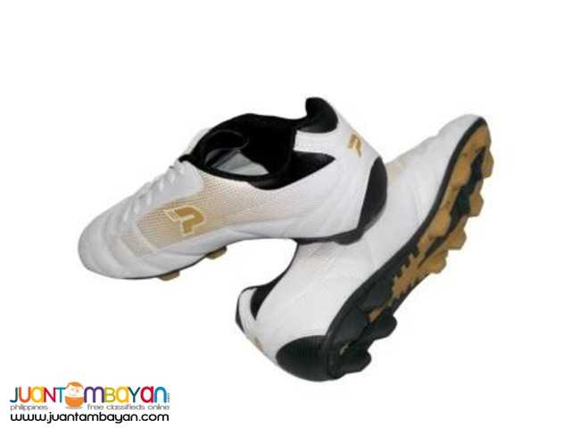 PATRICK Soccer Shoes US Size 9.5(White/Gold)