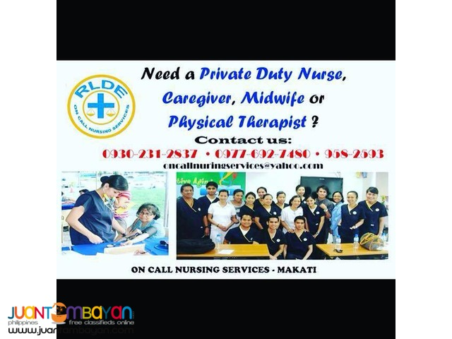 Private Duty Nurse/Caregiver/Midwives
