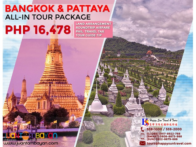 Bangkok & Pattaya All-In Tour Package