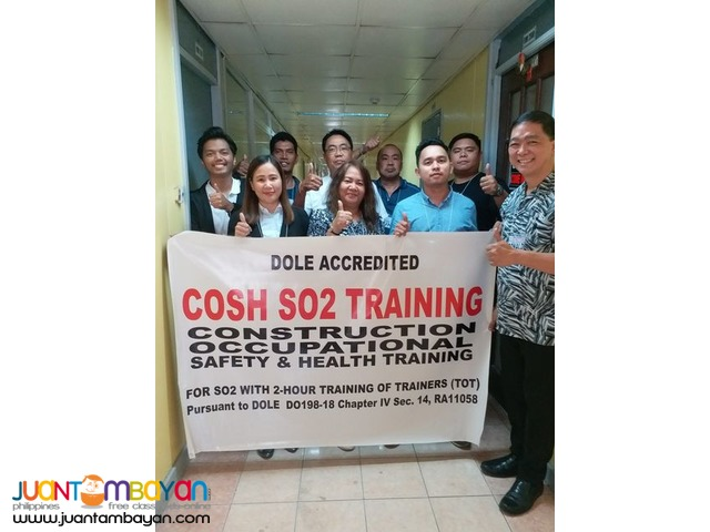 Online COSH Training Construction Occupational Safety Health DOLE
