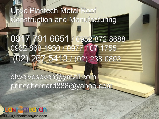 Plastech Metal Roofing Corrugated and Ribtype