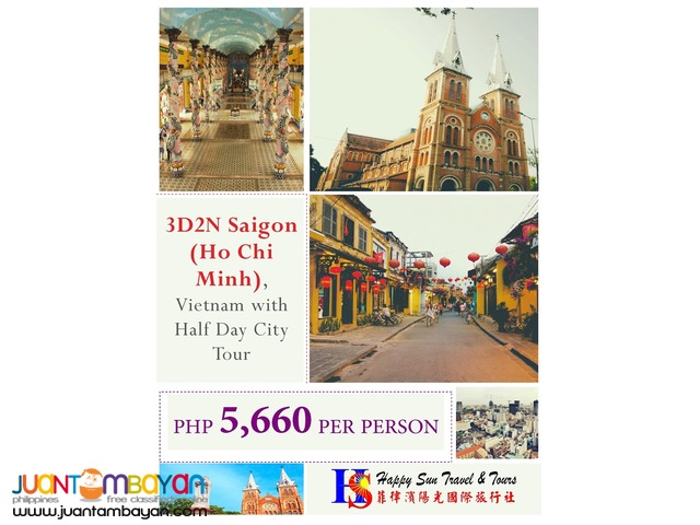 3D2N Saigon (Ho Chi Minh) Tour Package
