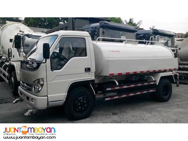 6 Wheeler Water Truck 4000L, 115HP  (Yuchai Engine)  4-cylinder