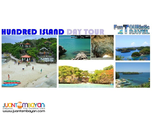 HUNDRED ISLAND, ALAMINOS PANGASINAN DAY TOUR PACKAGE