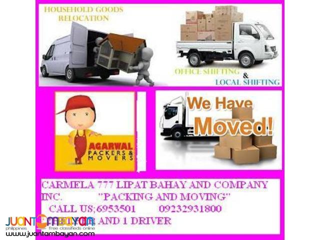 CARMELA MOVERS AND TRUCKING COMPANY INC.
