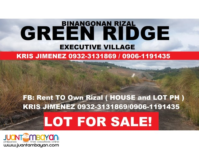GREENRIDGE RESIDENTIAL LOT FOR SALE upto 10YRS INSTALLMENT BASIS