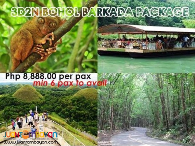 3d2n BOHOL BARKADA PACKAGE WITH AIRFARE