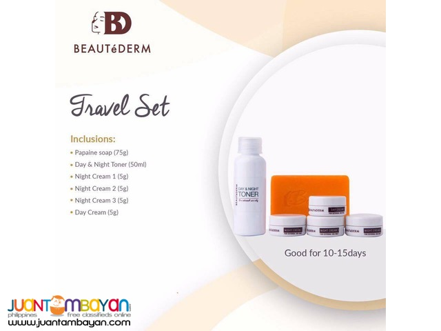 Beautederm Travel Set