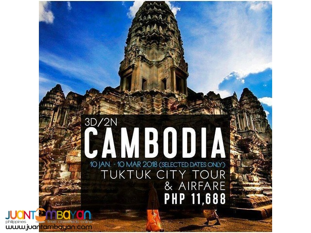 3d2n Cambodia Tour Package with Airfare