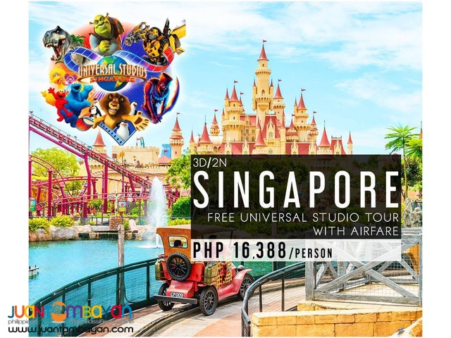 Singapore with Universal Studio Tour Package + Airfare