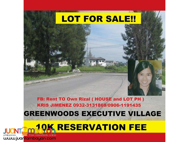 LOT FOR SALE GREENWOODS EXECUTIVE VILLA