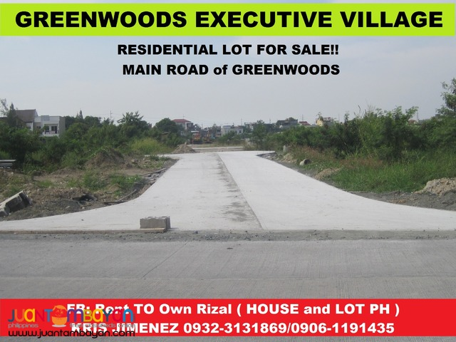 GREENWOODS EXECUTIVE VILLAGE LOT UPTO 3 yrs NO INTEREST
