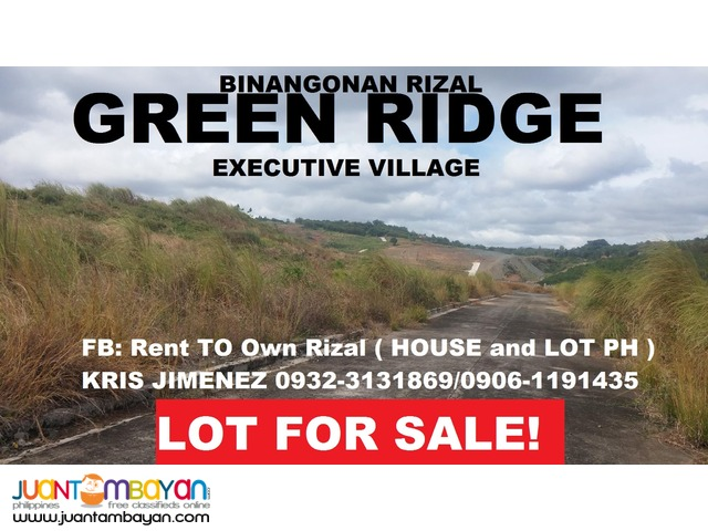 GREENRIDGE LOT FOR SALE nEAR HIWAY FOR ONLY 5500 per sqm