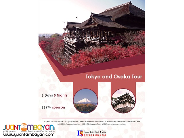 6D5N Tokyo & Osaka Tour Package