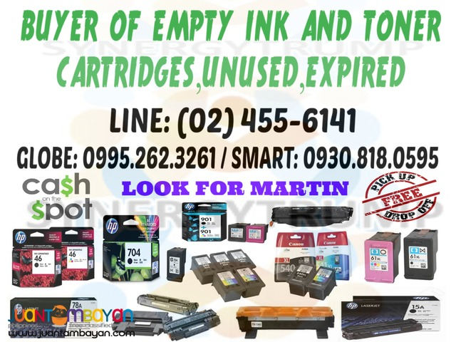 BUYER OF BRAND NEW INK AND EMPTY INK / TONER CARTRIDGES