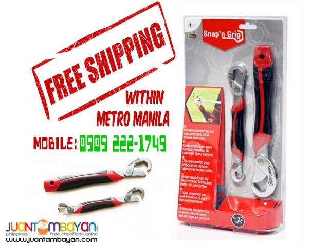 Snap n Grip Universal wrench - Free shipping