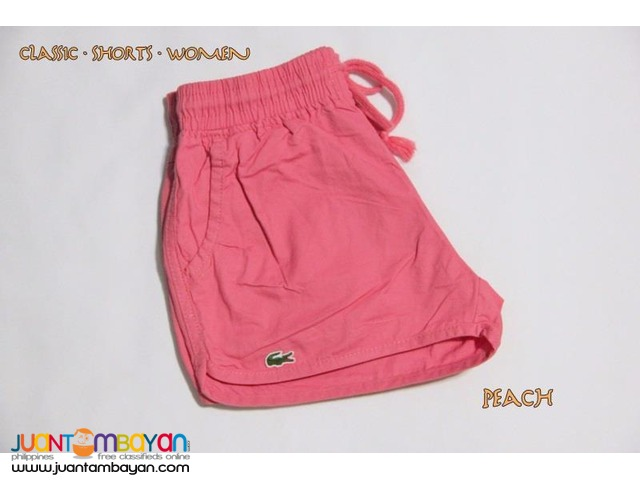 LACOSTE SHORTS FOR WOMEN - LACOSTE CLASSIC MINI SHORTS