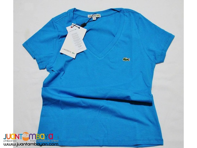LACOSTE V NECK T SHIRT FOR WOMEN - LACOSTE VNECK WOMEN