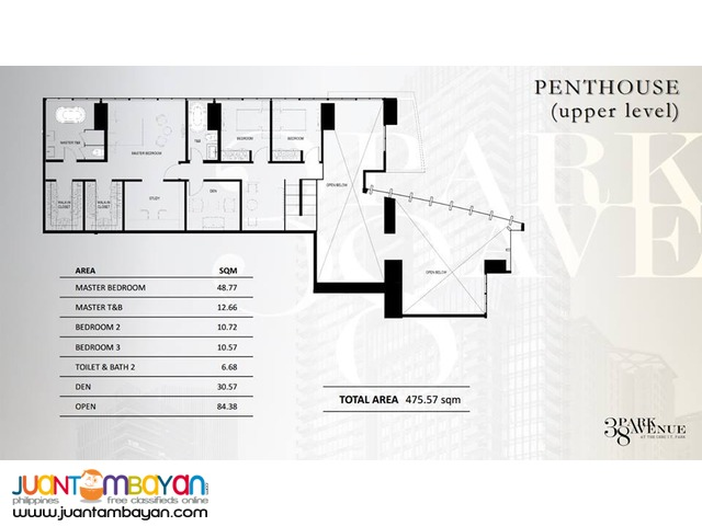 PRE-SELLING PENTHOUSE UNIT NEW YORK INSPIRED CONDO DESIGN 38 PARK
