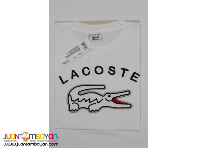 LACOSTE T SHIRT FOR MEN - LACOSTE ROUNDNECK FOR MEN - BIG CROC