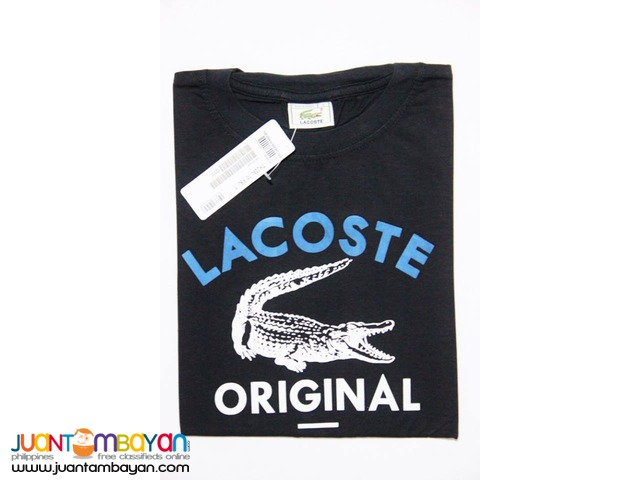 LACOSTE T SHIRT FOR MEN - LACOSTE ROUNDNECK FOR MEN - BIG CROC