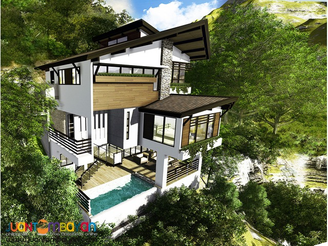 3 Storey Overlooking house with swimming pool The Peaks Model A