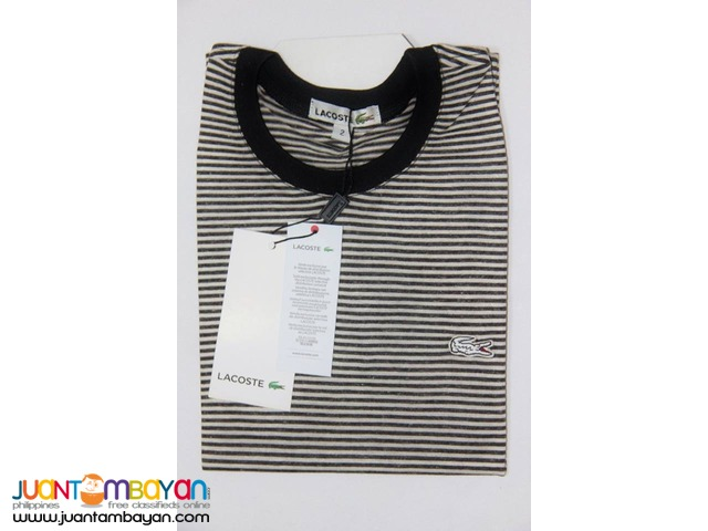 LACOSTE T SHIRT FOR MEN - LACOSTE ROUNDNECK FOR MEN STRIPES