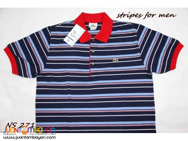 LACOSTE STRIPES FOR MEN - LACOSTE YACHTING MENS POLO SHIRT