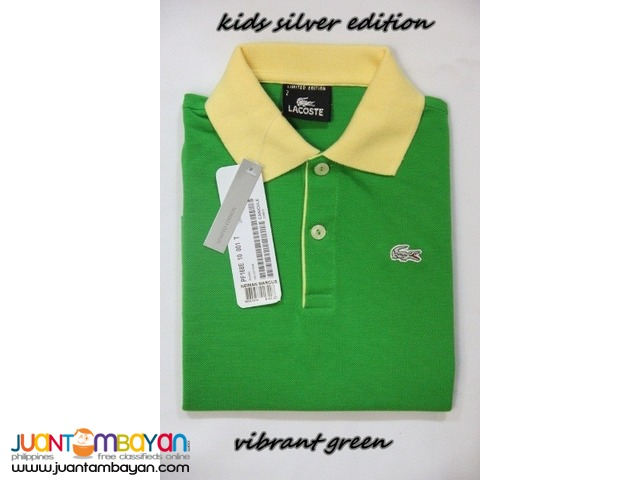 LACOSTE SILVER EDITION KIDS - LACOSTE POLO SHIRT FOR KIDS