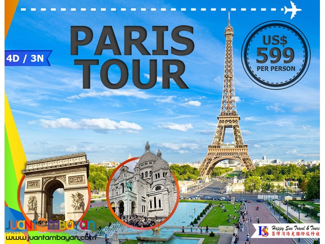 4D3N Paris Tour Package