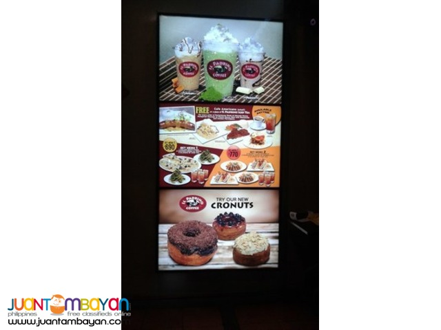 Standee, Flange, Table top Sign, Menu Board, Wall Murals and Sticker