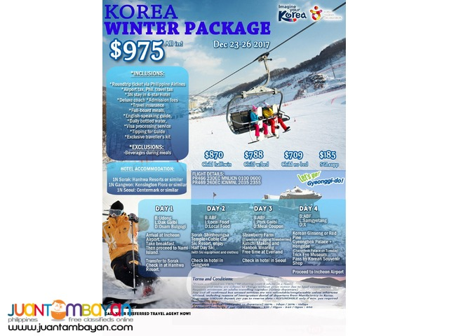 KOREA WINTER PACKAGE