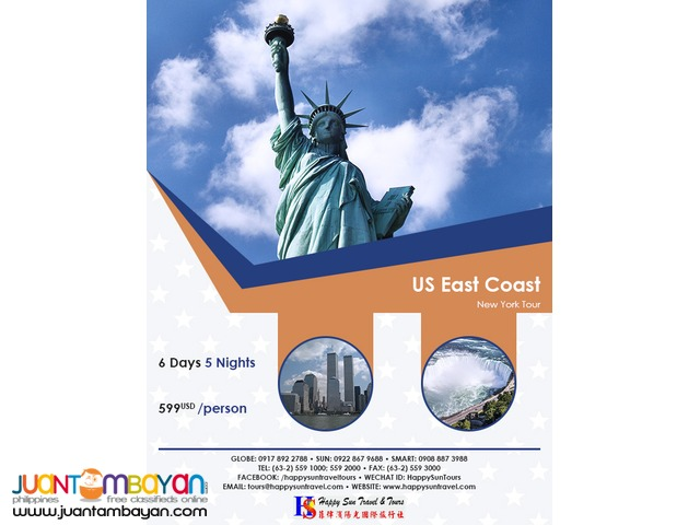 6D5N East Coast Tour Package