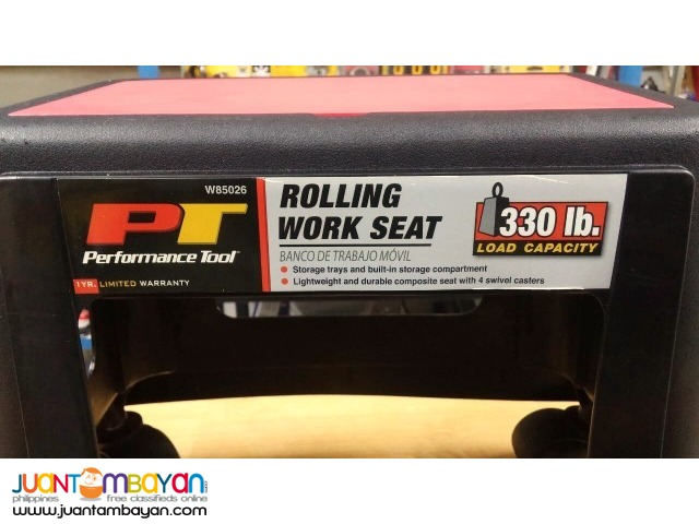Performance Tool W85026 Rolling Work Seat
