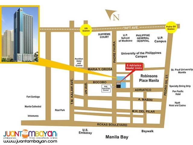 manila condo for sale Studio unit near UP Manila St.Paul Manila