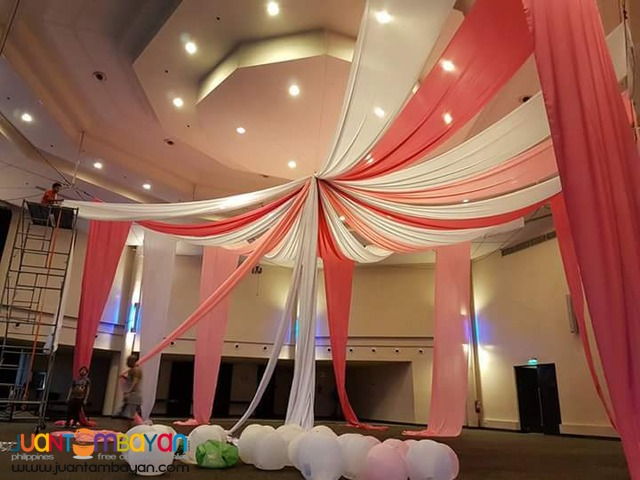 EVENT STYLING - DRAPES - SWAGS - STAGE DESIGN - DANCE FLOOR