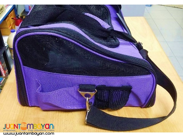 Petcomer Pet Car Seat Carrier for Dog Cat - Purple
