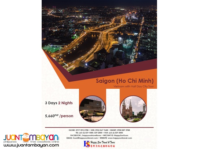3D2N Saigon with Half City Tour